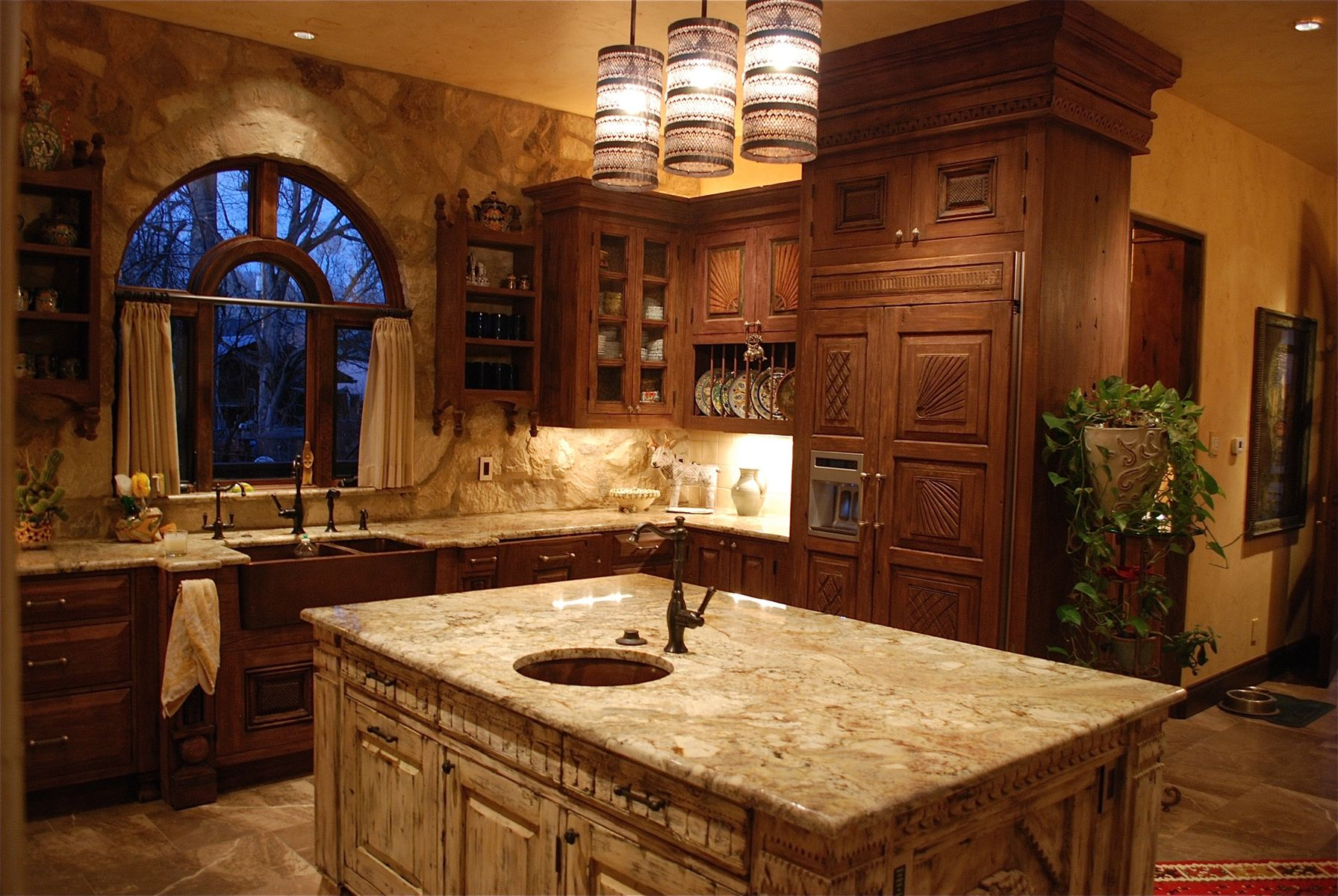 Hand made custom painted kitchen cabinets by tilde design for Are painted kitchen cabinets in style