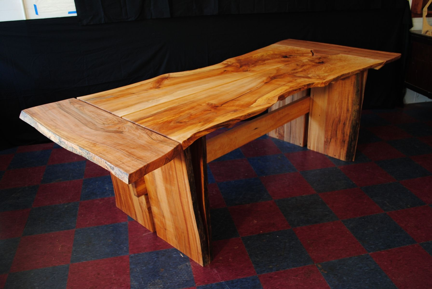 Custom made norway maple dining table by p d white for Maple dining room table