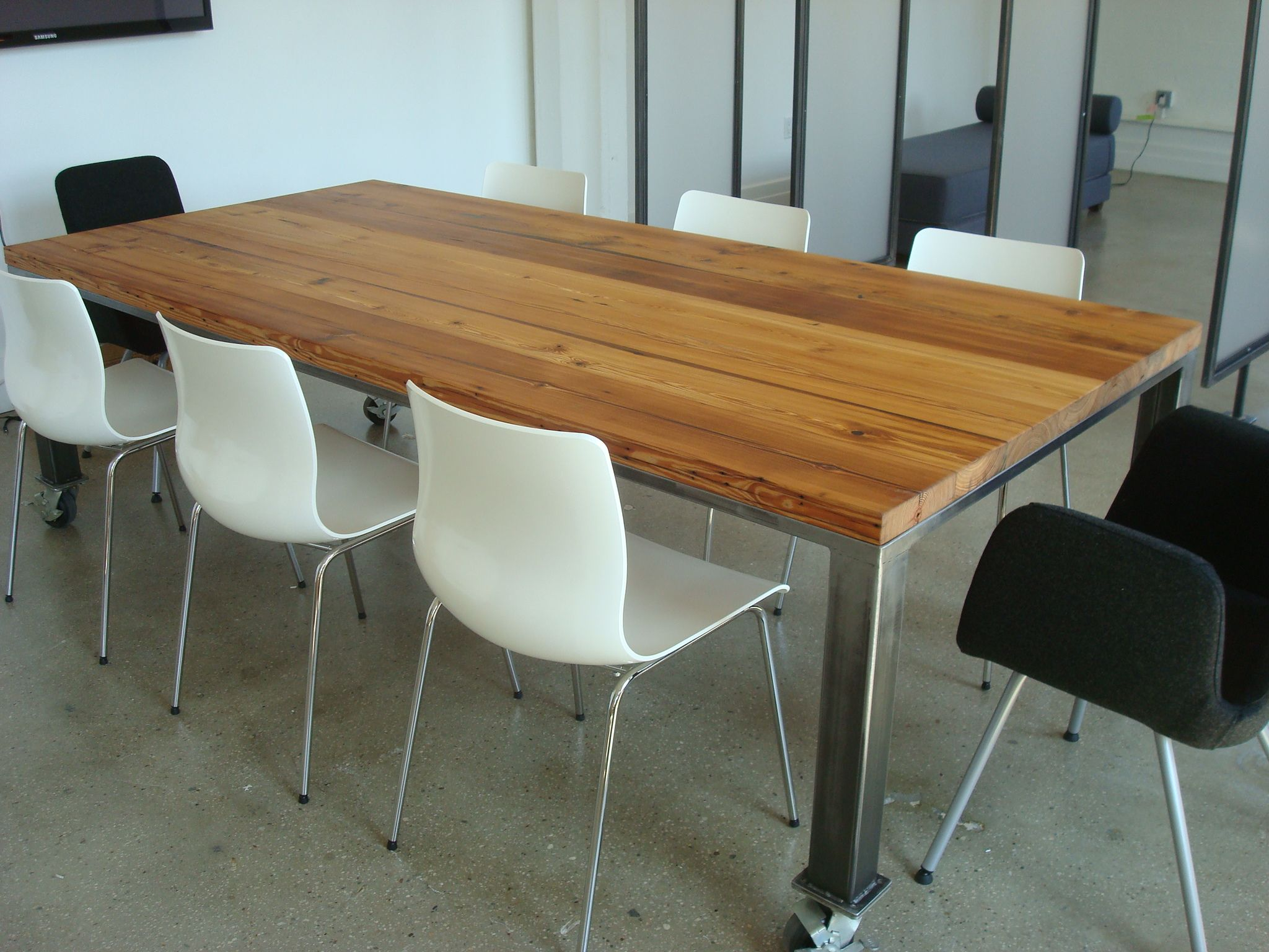 Buy Hand Crafted Conference Table With Casters Made To