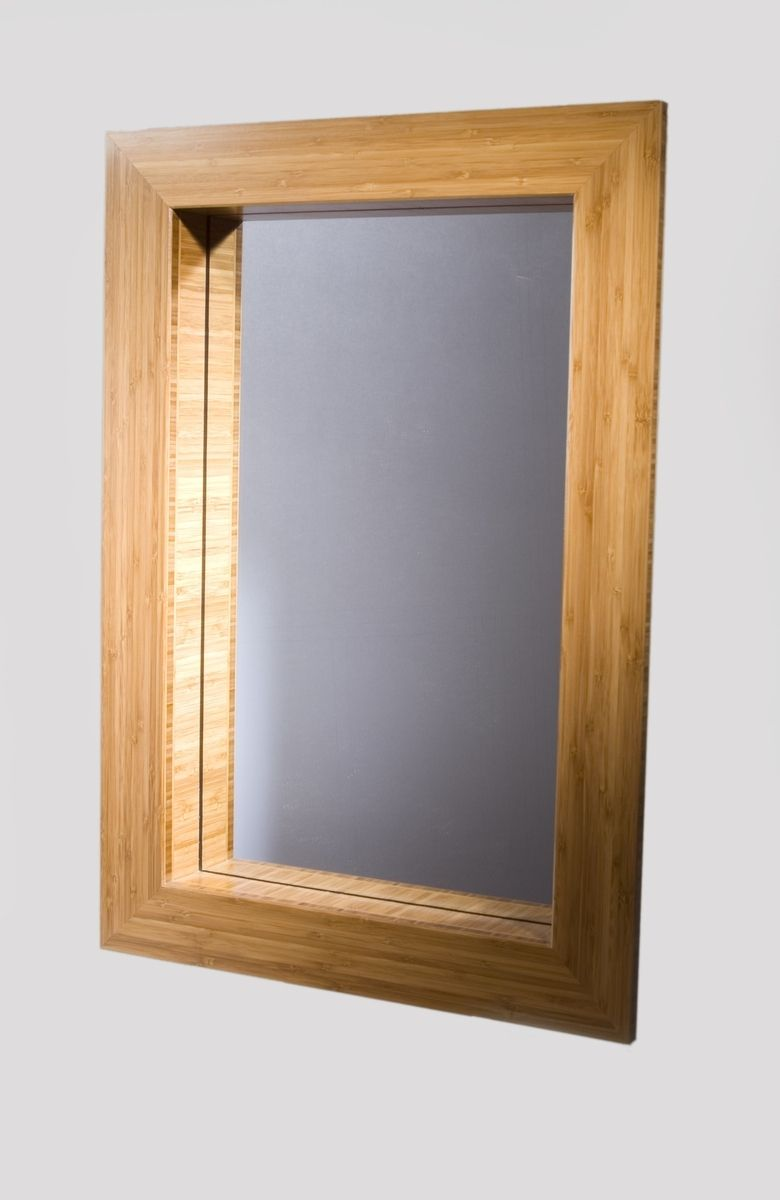 Custom Mirror Frame In Bamboo By Studio Two Design And Woodworking