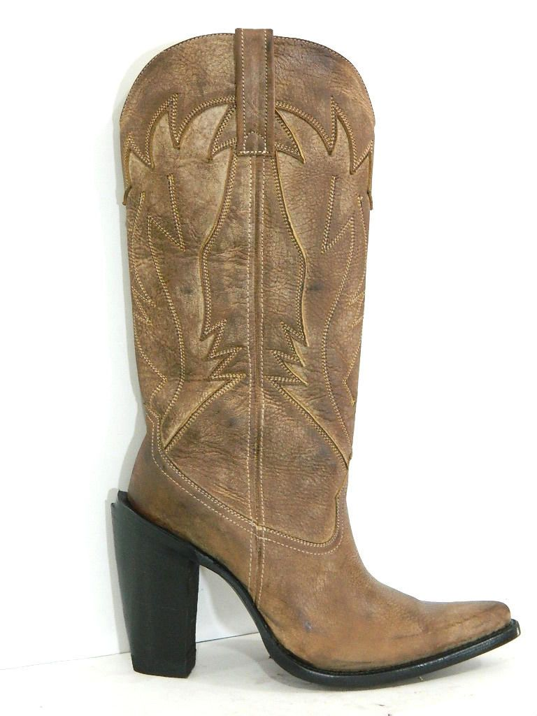 made cowboy boots 16 168 distressed brown