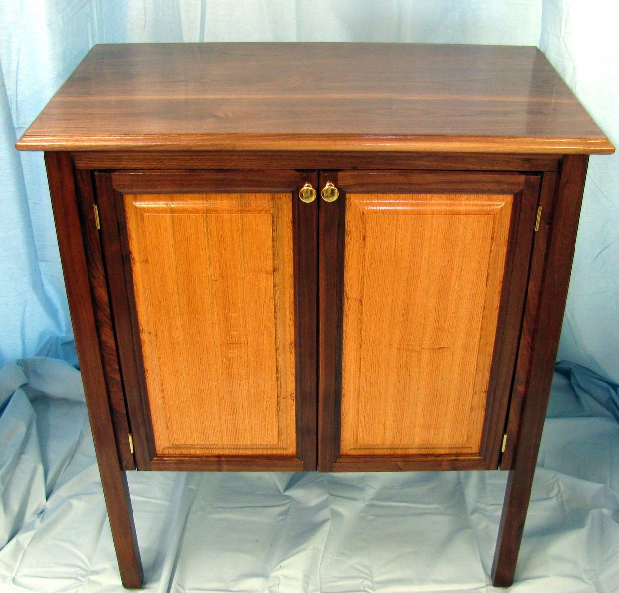 Custom Black Walnut And Red Oak Cabinet By Shoup Woodworks
