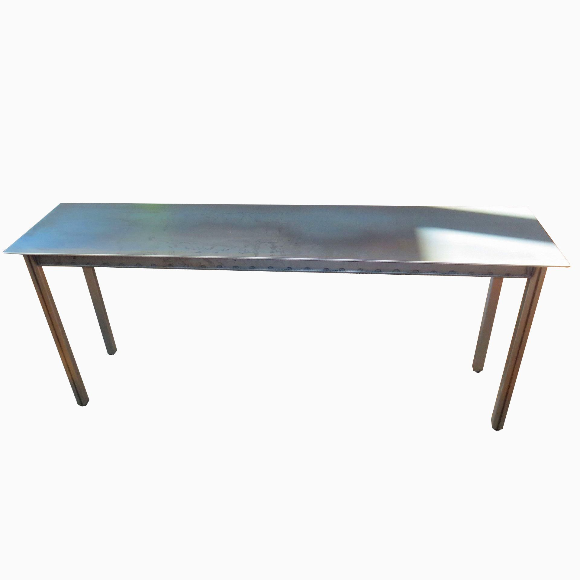 hand made simple steel dining table console industrial by andrew