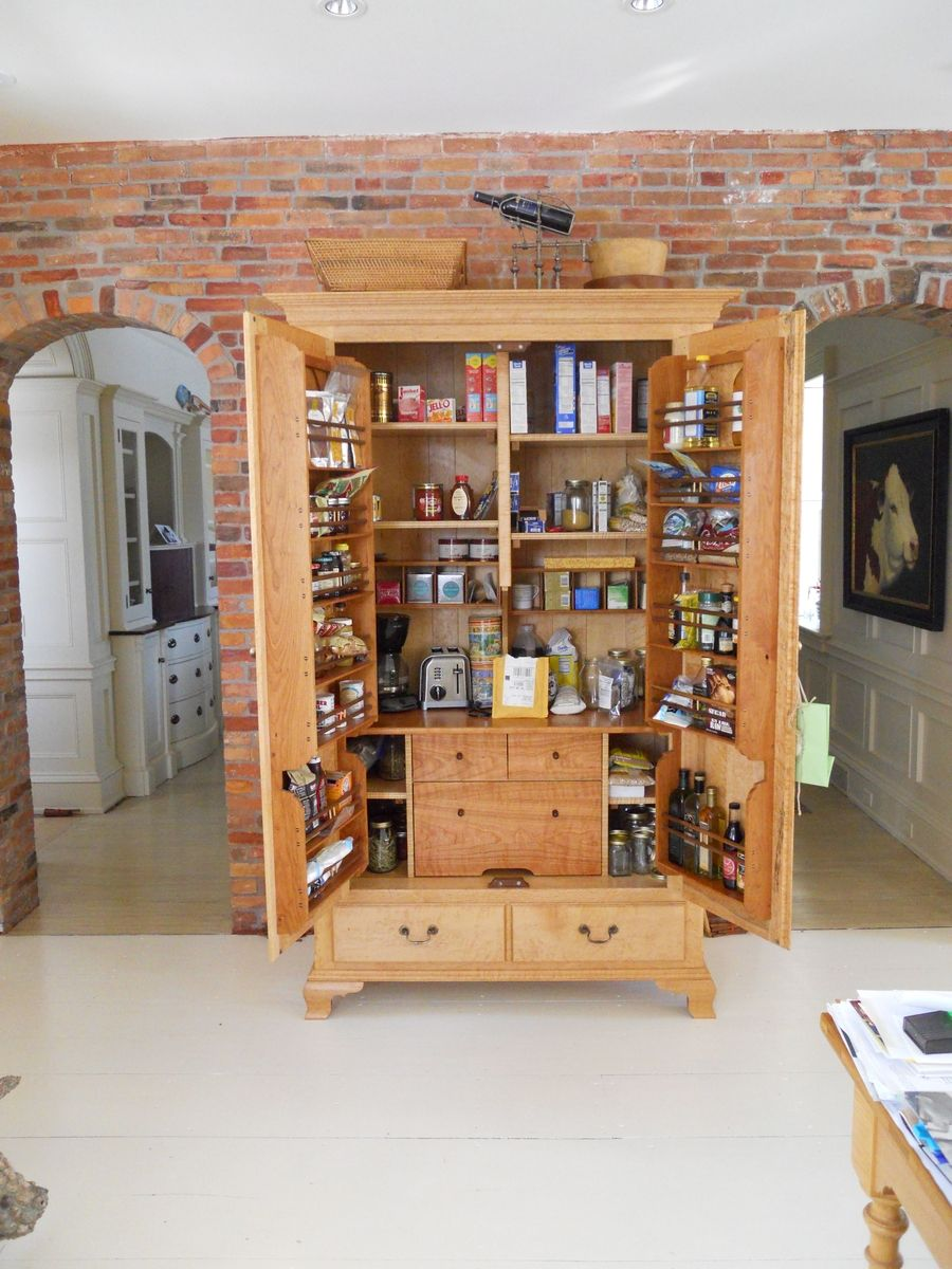 Custom kitchen pantry cabinet by jeff koopus cabinet and chair maker - Custom made cabinet ...