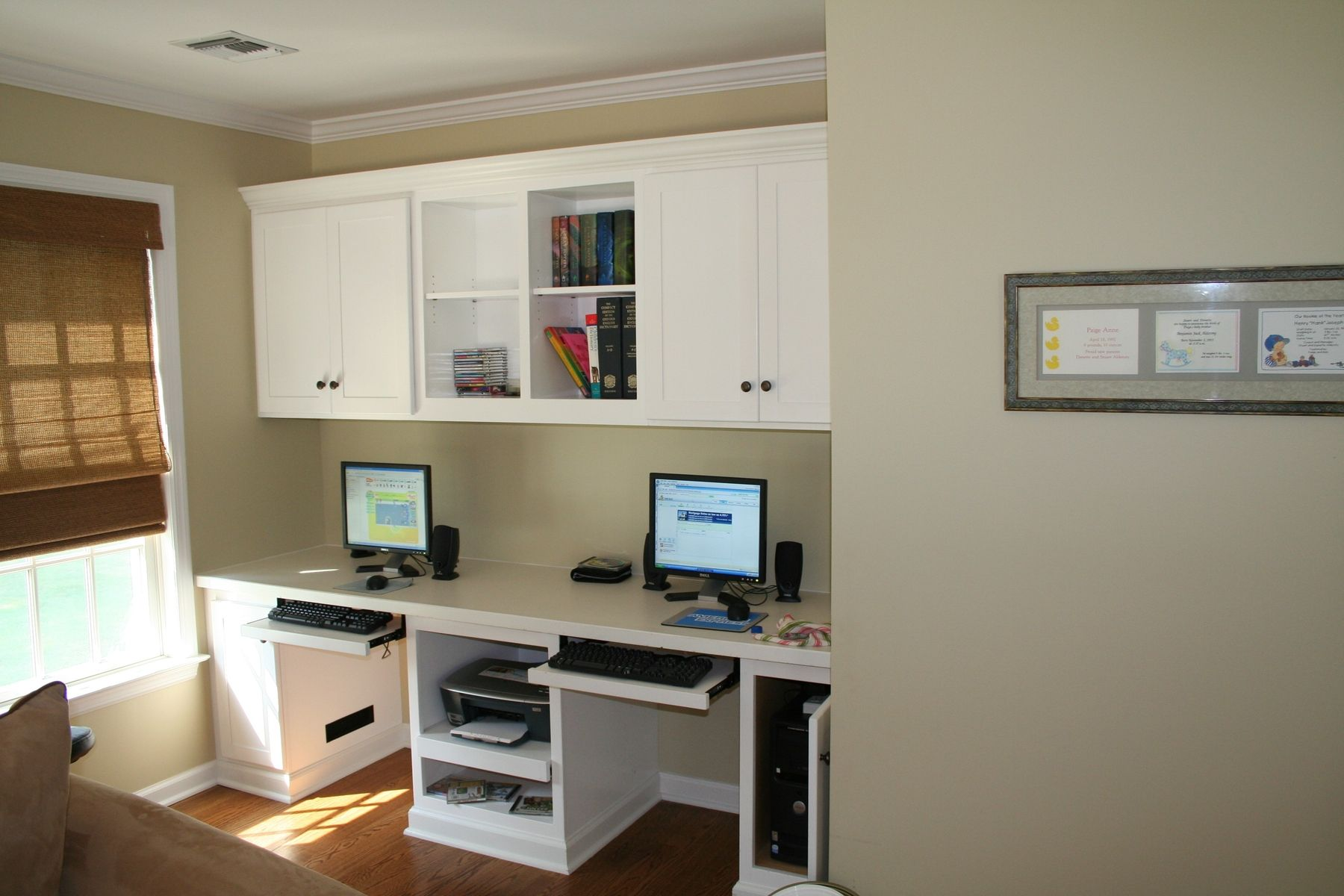 Custom Painted Home Office For Kids By Two Rivers Woodworking
