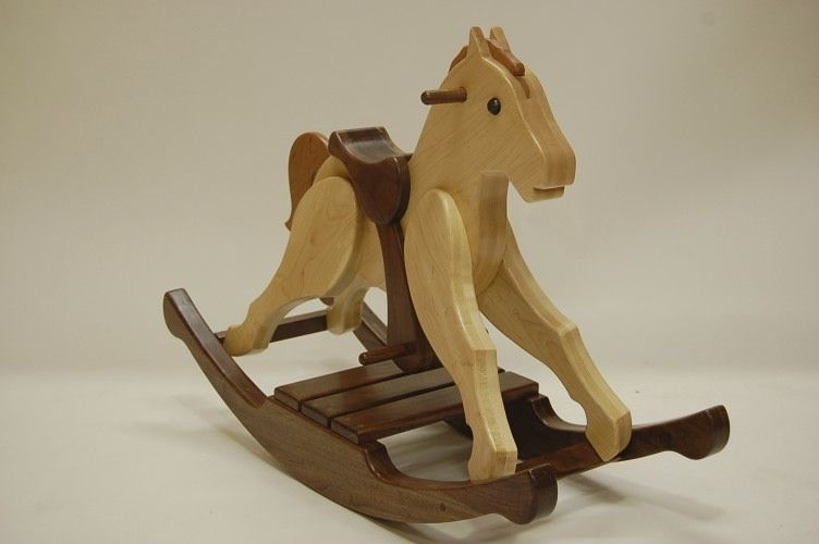 Hand crafted child 39 s rocking horse by myrtle grove for Hand crafted rocking horse