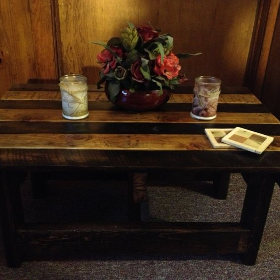 Rustic Wood Pallet Coffee Table: Hand Crafted Handmade Reclaimed Rustic Pallet Wood Coffee
