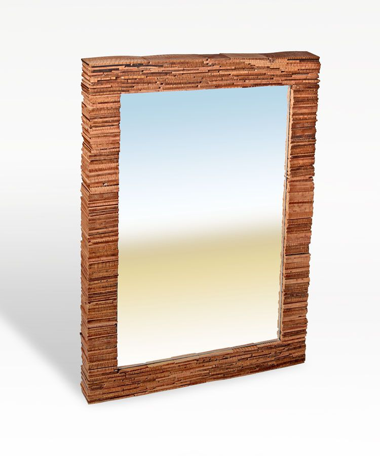 Buy a handmade strata mirror made to order from nick for Custom made mirrors