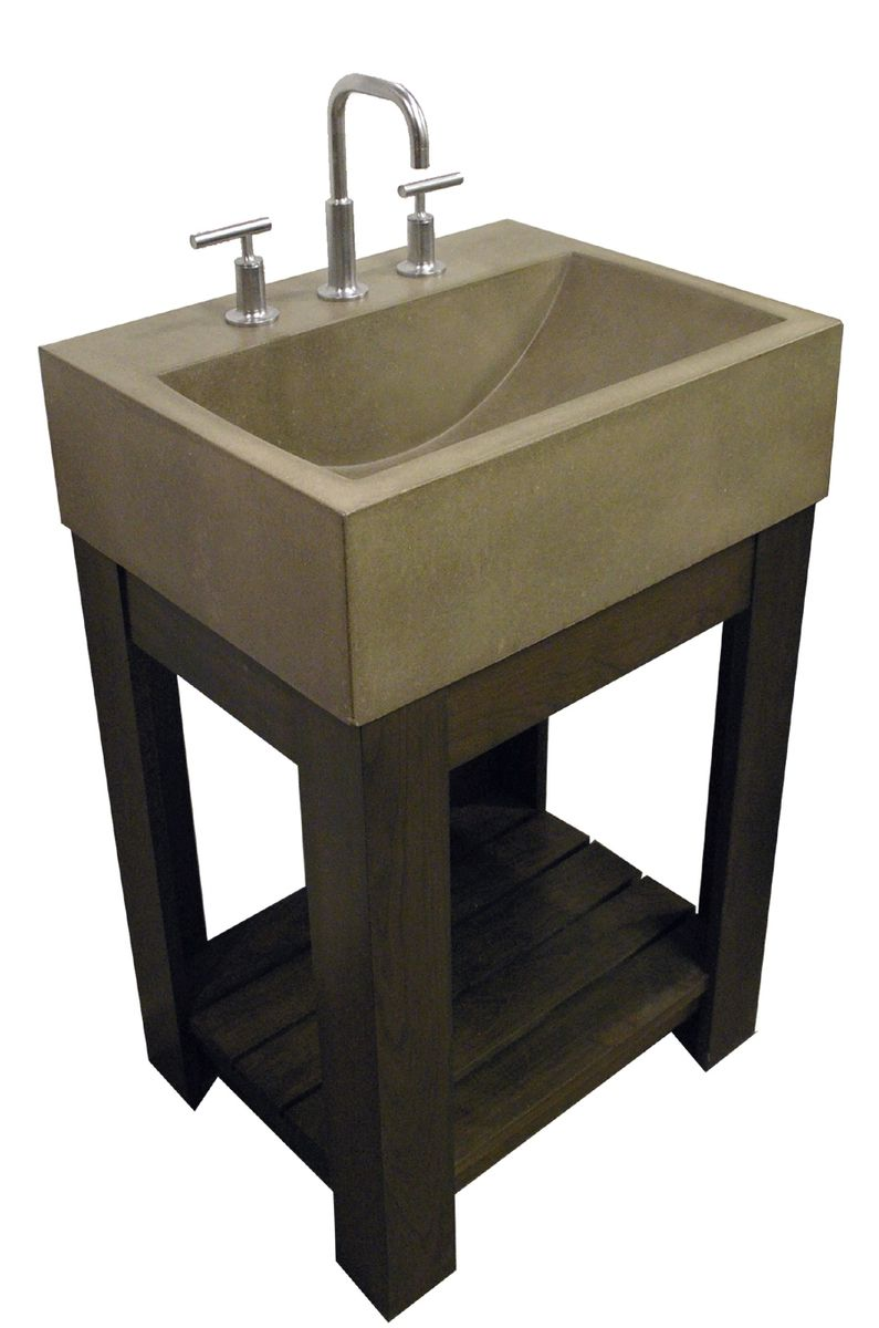 handmade concrete sink lacus concrete sink by trueform concrete. Black Bedroom Furniture Sets. Home Design Ideas