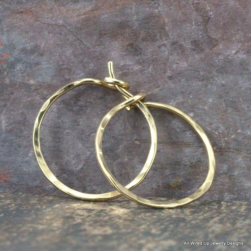 Iphone 14k Gold 14k Gold Hoop Earrings Small