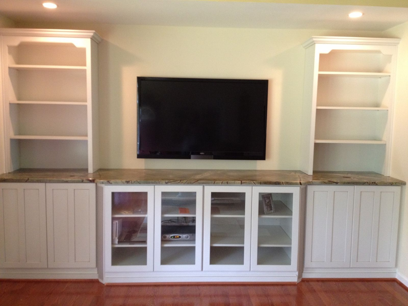 Hand Crafted Built In Tv Wall Unit By Natural Woodworks