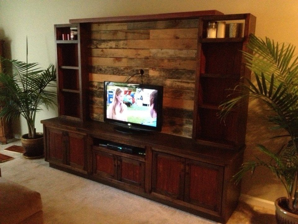 Handmade Custom Entertainment Center With Pallet Wood By H