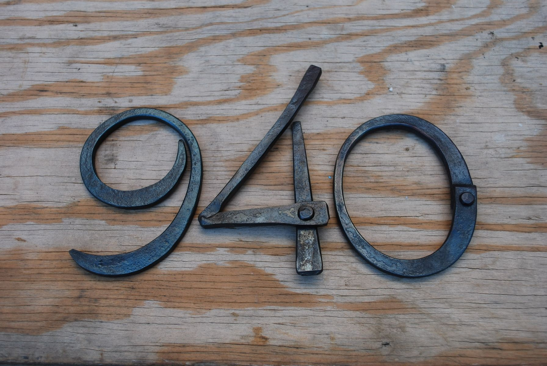 Hand Crafted Hand Forged Metal House Numbers By Organic