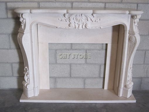 Custom Made Stone Fireplace