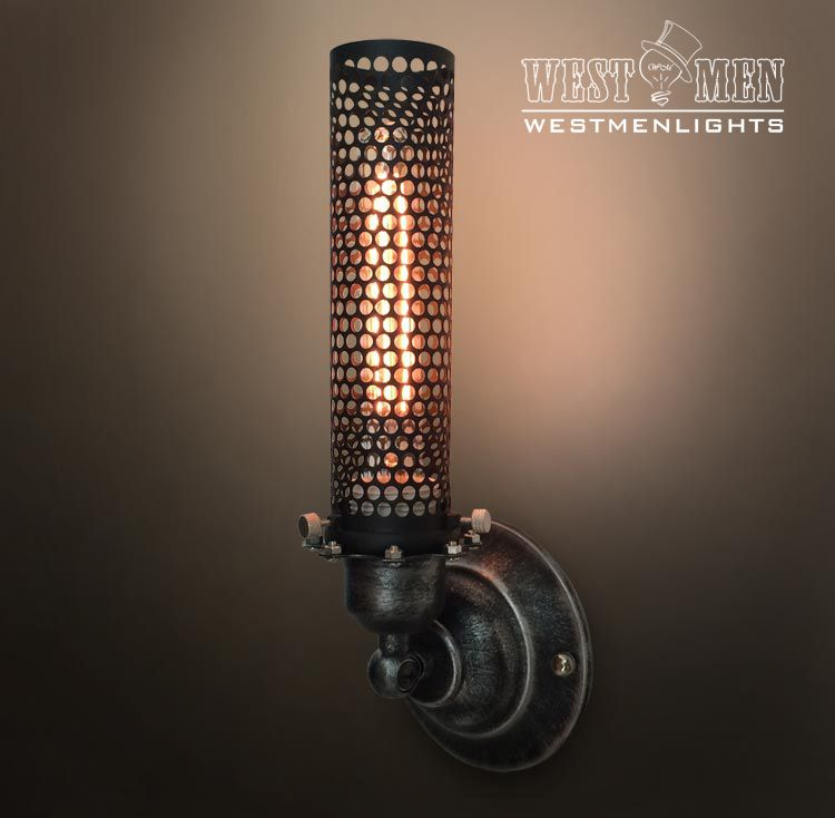 Industrial Iron Wall Sconces : Buy a Hand Made Westmenlight Industrial Wrought Iron Wall Sconce Lamp Art Deco Light Black, made ...