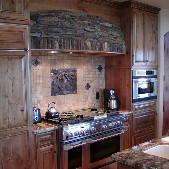 Custom Made Kitchen Cabinet: Hand Crafted Knotty Alder Custom Made Kitchen Cabinets
