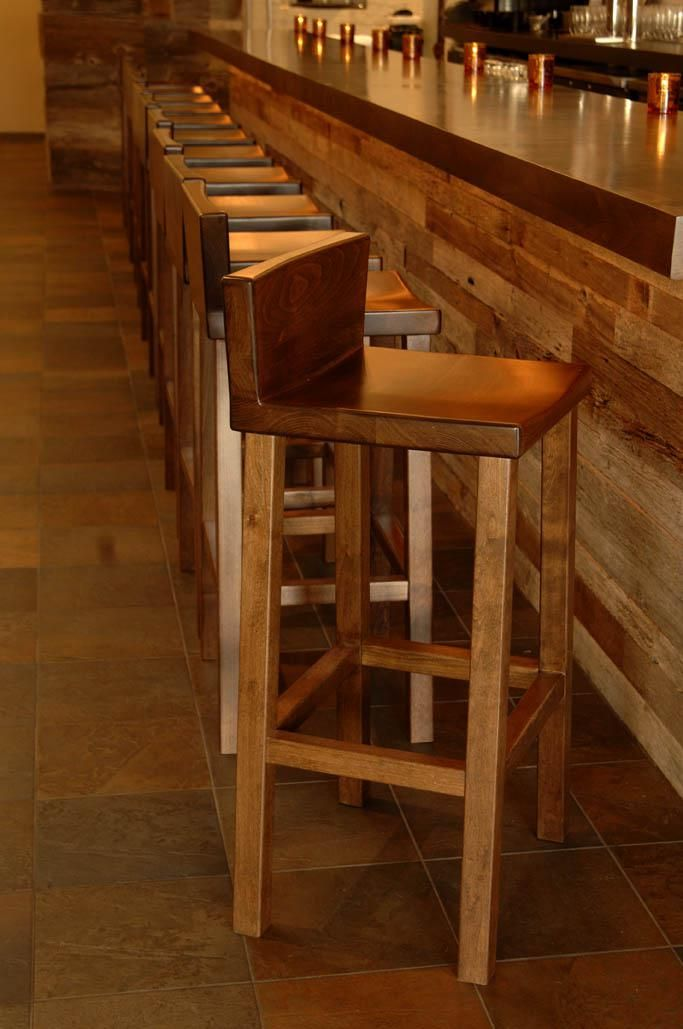 Hand Made Alder Bar Stool By Woodvisions Inc