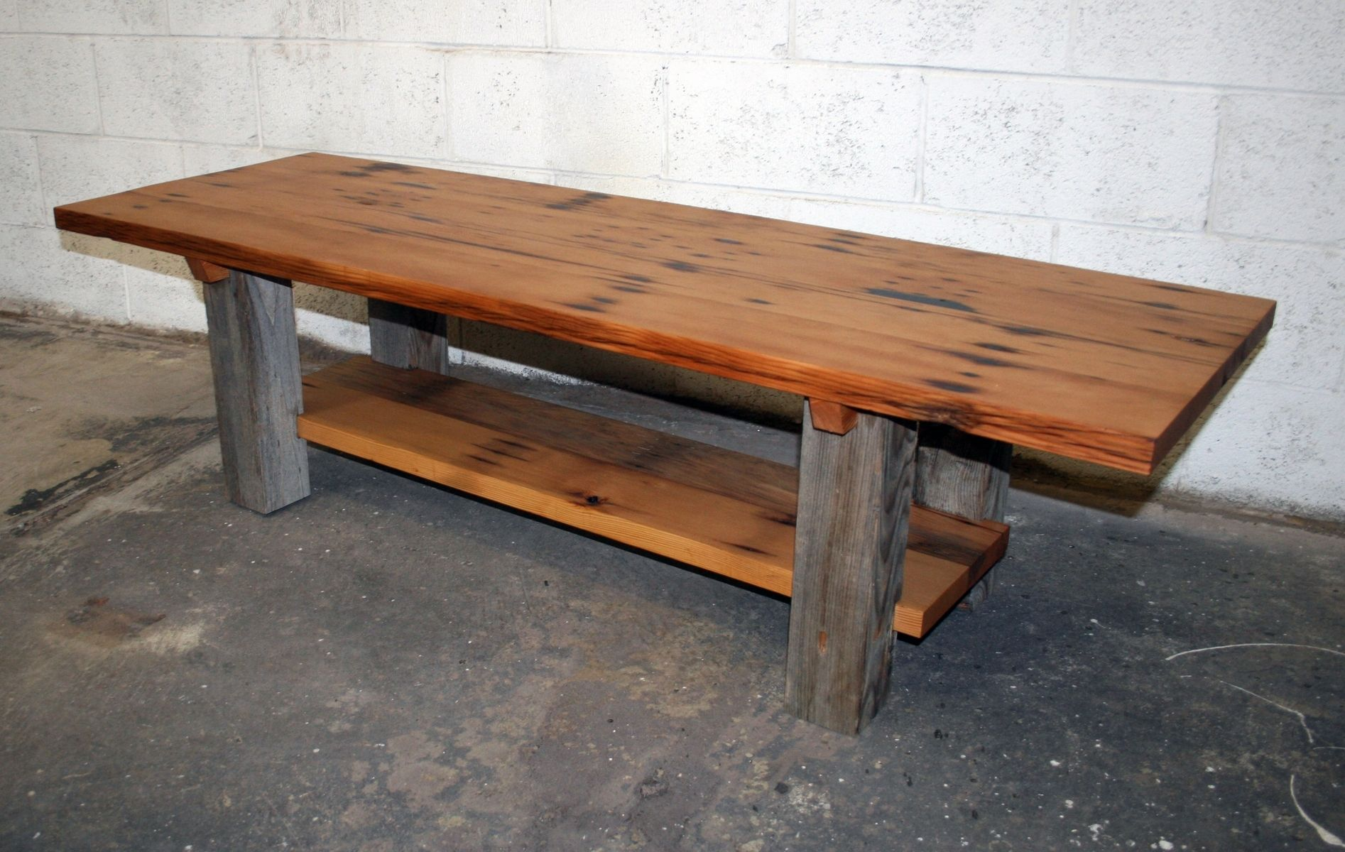 Hand made reclaimed fir and barn wood coffee table by for Reclaimed coffee table