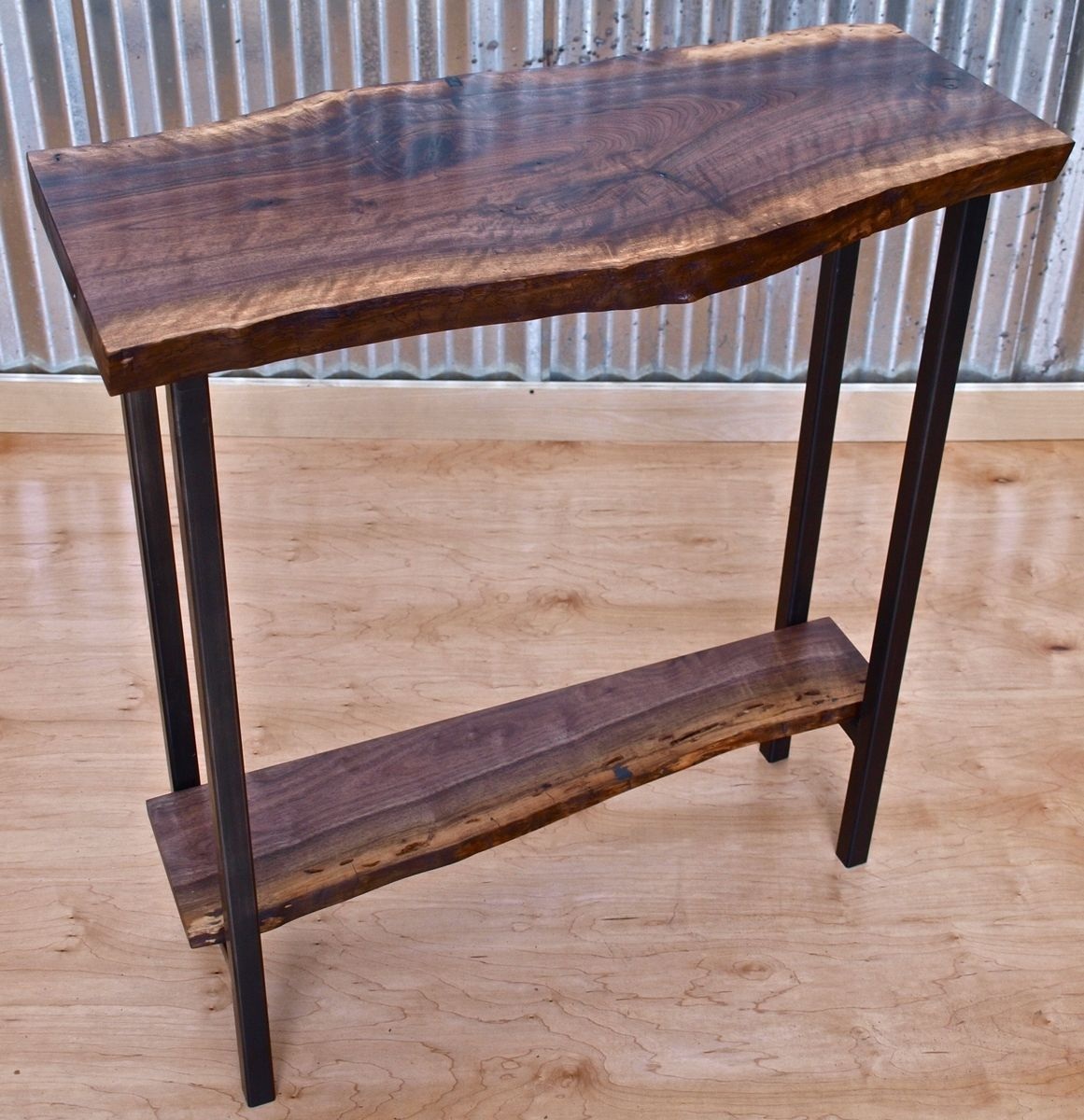 Unique Sofa Tables: Handmade Walnut Console Table By WITNESS TREE STUDIOS