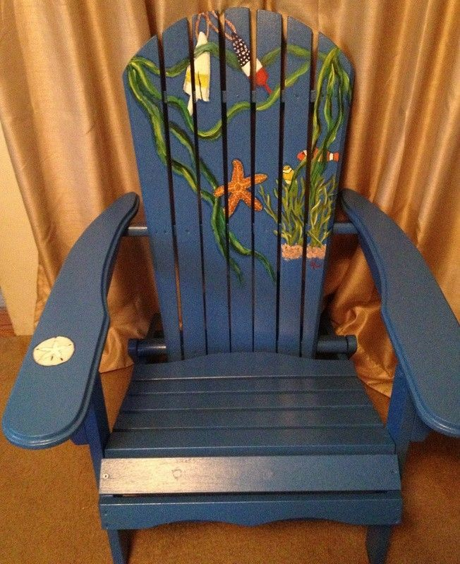 Hand Crafted Hand Painted Adirondack Chair By Beach Chairs