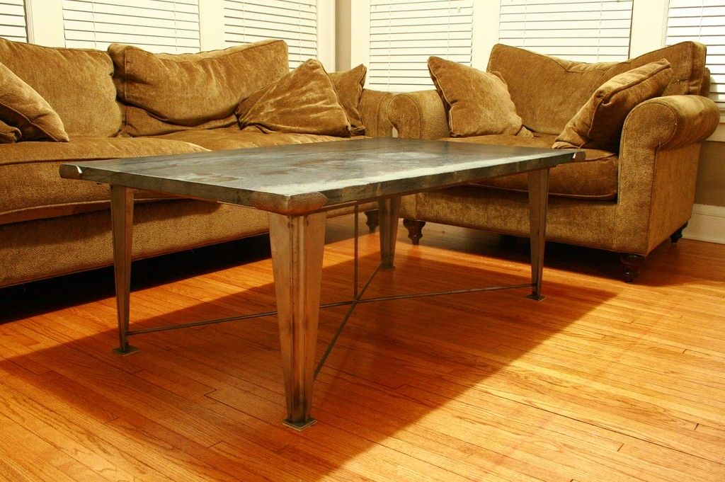 Handmade Soapstone Guilded Age Coffee Table By Primitive Precision Metalcraft Llc