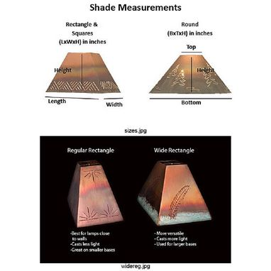 Custom Made Copper Shade Designs