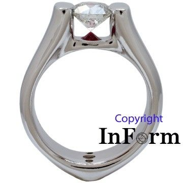 Custom Made Platinum Engagement/Wedding Ring Set