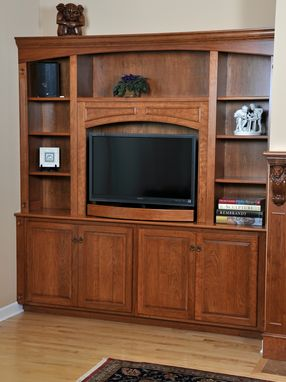Custom Made Fireplace Mantel And Entertainment Center