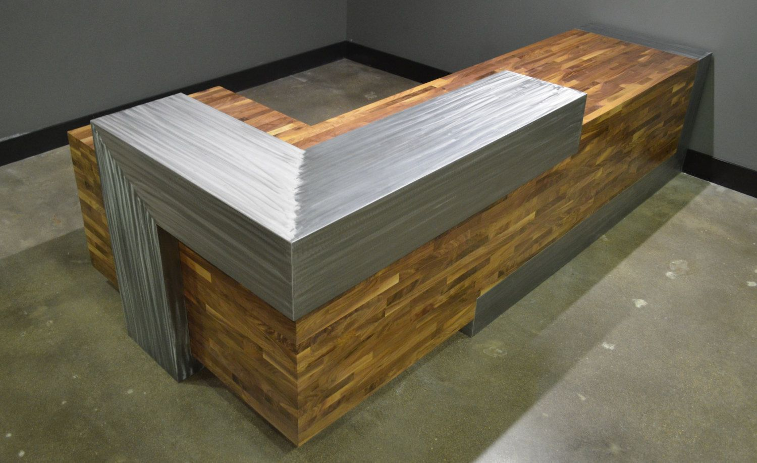 cool custom reception desk furniture | Buy a Hand Crafted Modern Reception Desk, made to order ...
