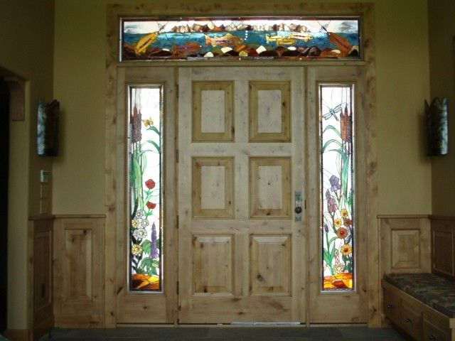 Hand Crafted Stained Glass Side Lights And Transom