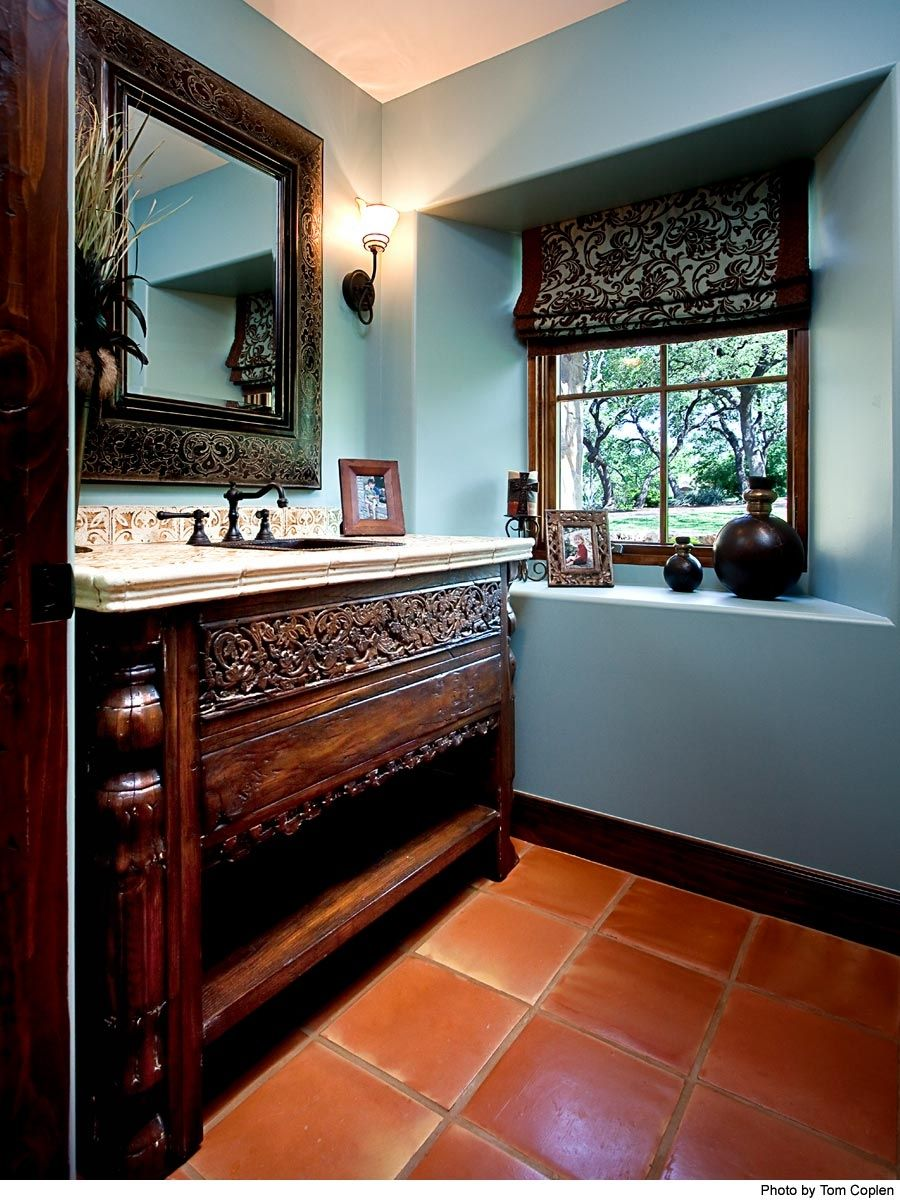 handmade custom bathroom cabinets by la puerta originals inc. Black Bedroom Furniture Sets. Home Design Ideas