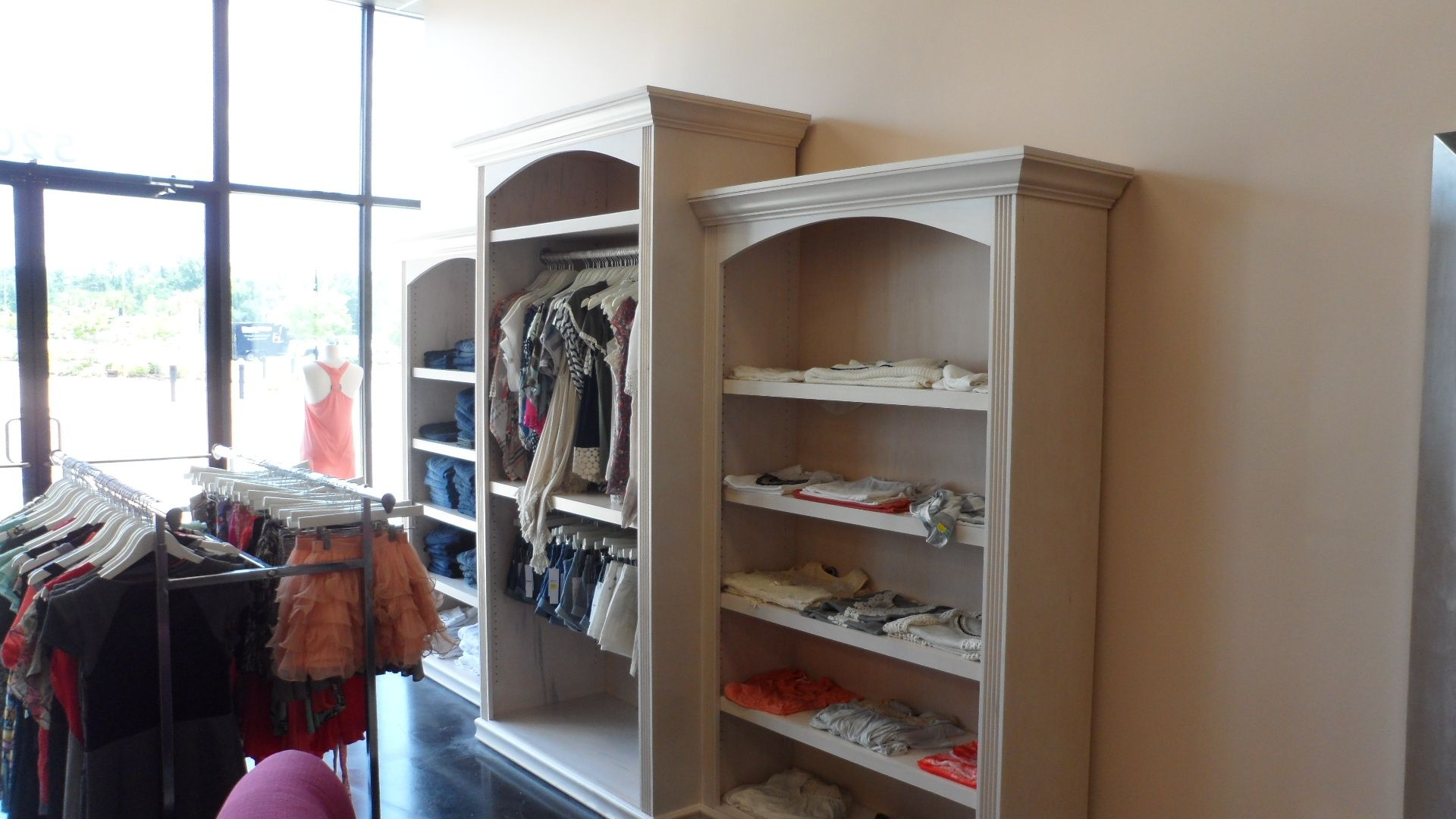 Custom Made Clothing Boutique Display Case By Wood N