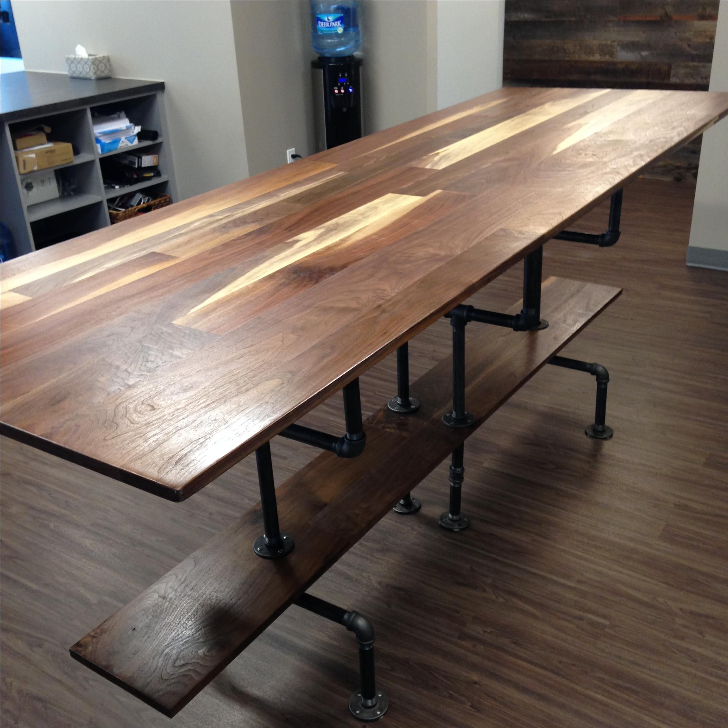 Hand Crafted Solid Sappy And Figured Walnut Conference