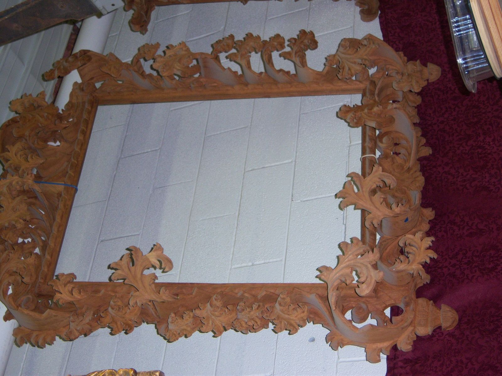 Hand Made Carved Baroque Mirror Frame By Artchitectural