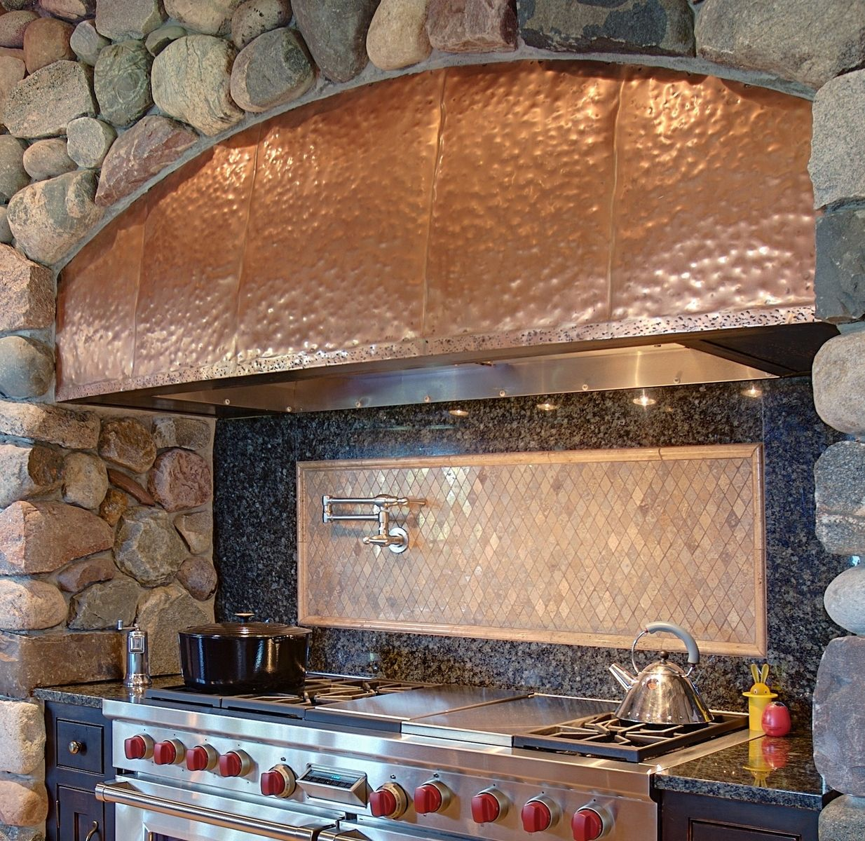 Custom Mcnabb Copper Kitchen Hood By North Shore Iron Works