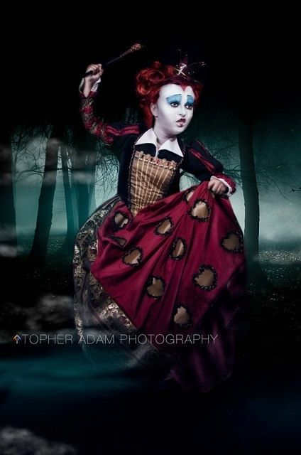 Tim Burton Alice In Wonderland Helena Boheme Carter Red Queen Costume    Queen Of Hearts Alice In Wonderland Tim Burton
