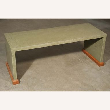 Custom Made Modern Monolithic Concrete Bench