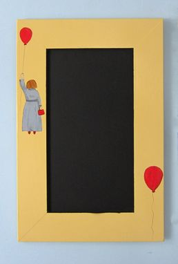 Custom Made Upcycled Chalkboard Made From A Cabinet Door With Handpainted Girl