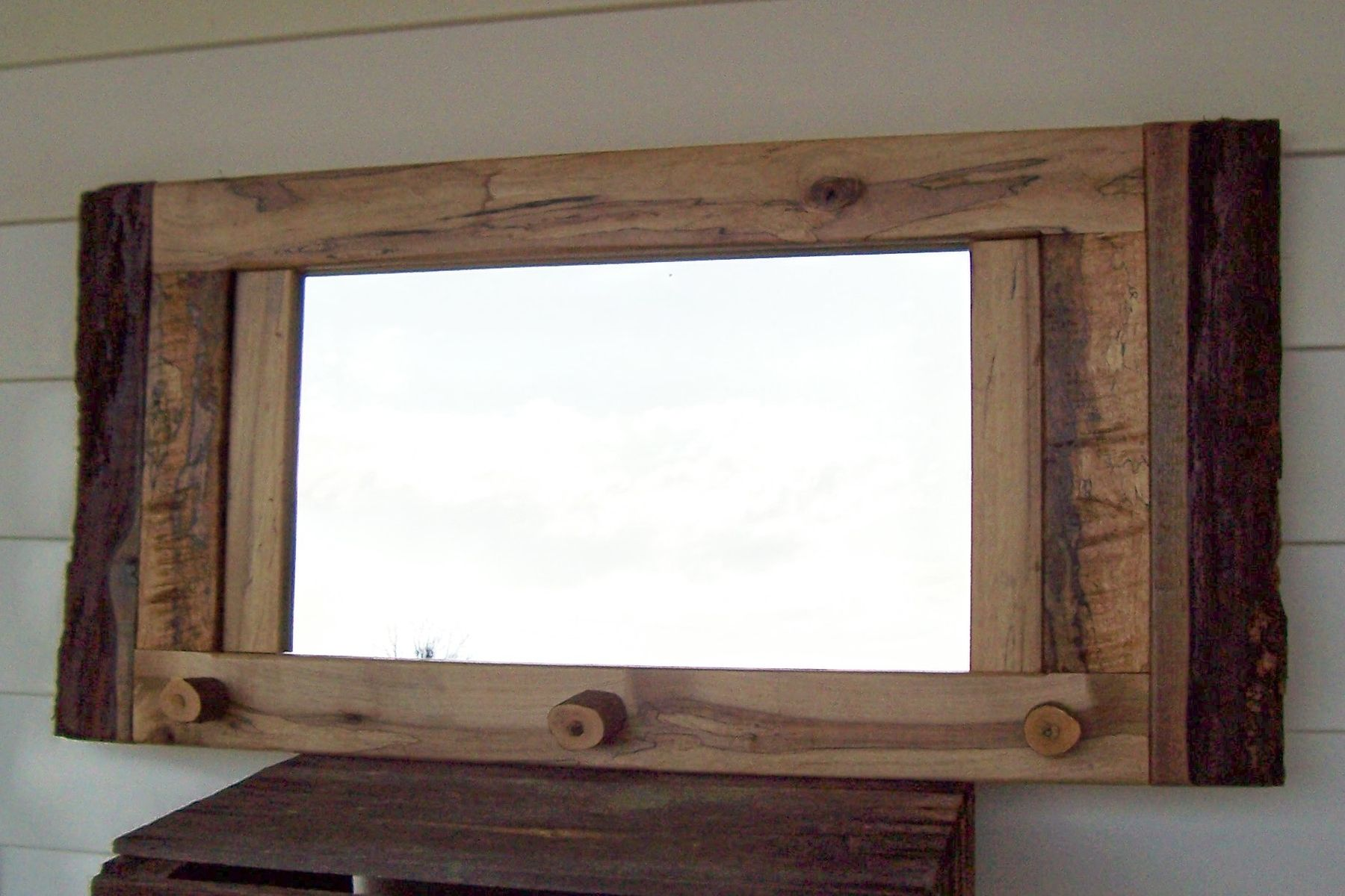 Custom reclaimed barn wood mirror by nature 39 s knots custom for Custom made mirrors