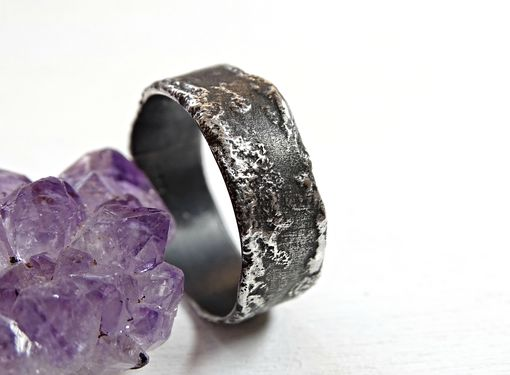 Buy A Hand Crafted Unique Silver Ring Molten Surface Cool