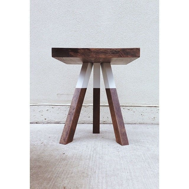 The Triad - Cantilevered Walnut Side Table