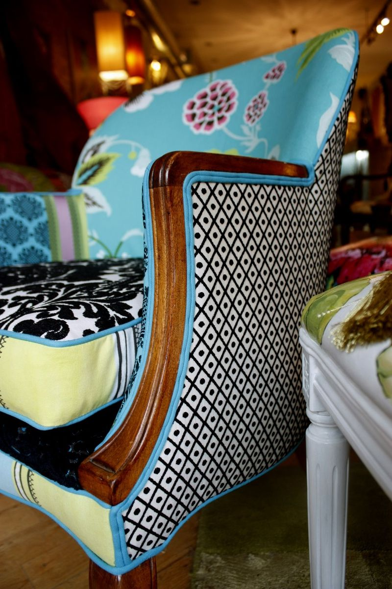 Hand Crafted Upholstered Chair Vintage Wood Show Arm Chair By Jane Hall The Voice Of Style