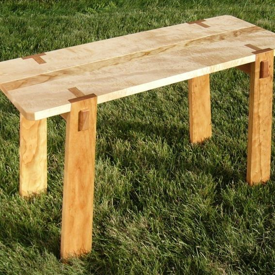 Unique Wood Benches: Custom Made Wood Bench By Fine Wood Crafting