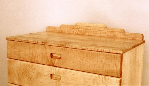 Custom Made Curly Maple Chest Of Drawers