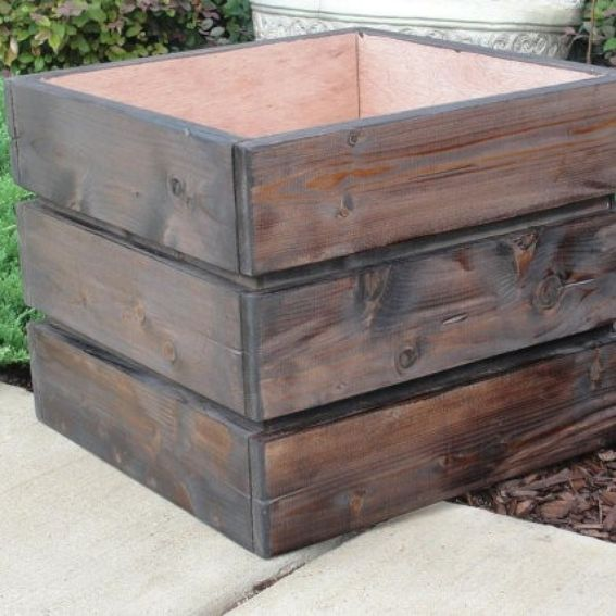 Made To Measure Bespoke Wooden Planters: Hand Crafted Large Wood Planter By Artisan Wood