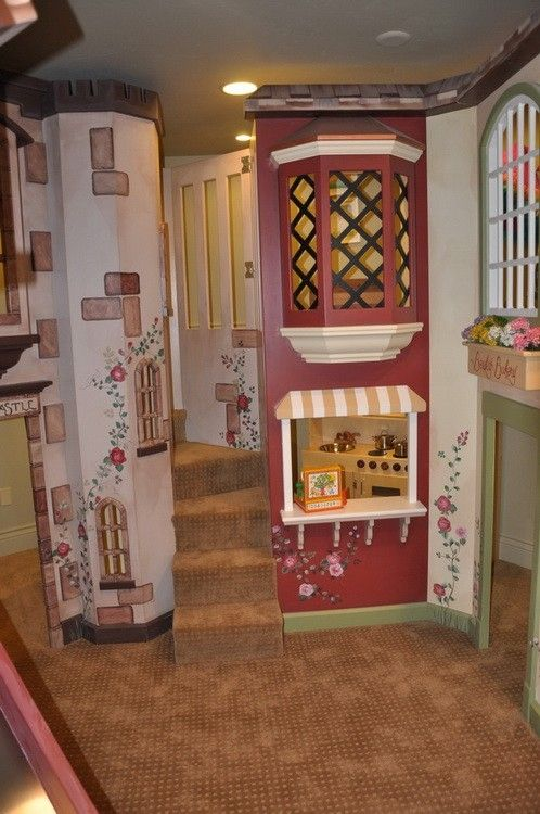 Custom Euro Castle Indoor Playhouse By Tanglewood Design