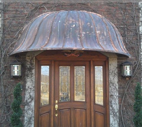 Custom Made Copper Awnings By Classic Copper Works