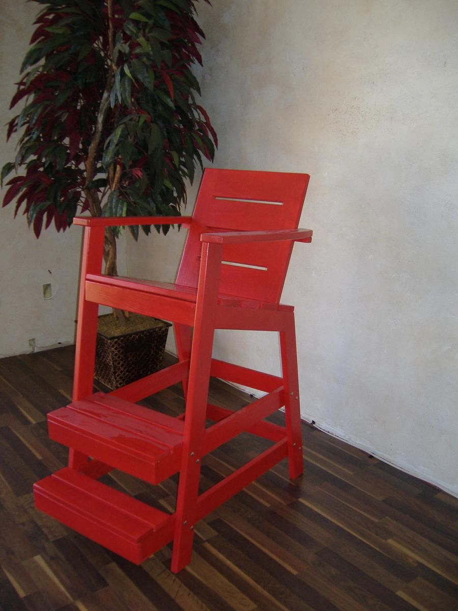 Hand Made Cypress Lifeguard Chair By Woodvisions Inc
