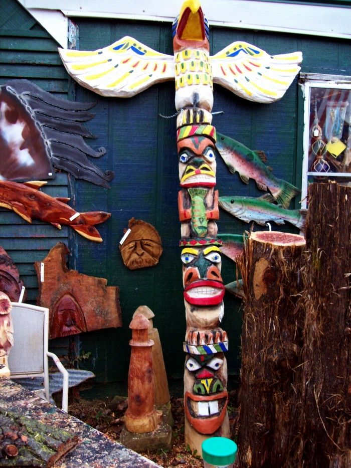 Hawk Totem Pole Totem Poles by Sylvia Cook