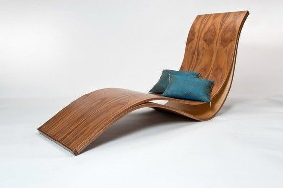 bent wood chaise lounge